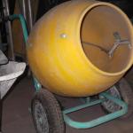 betonniere sur roue